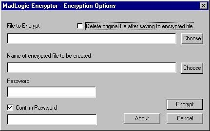 MadLogic Encryptor - Encrypts files for privacy.