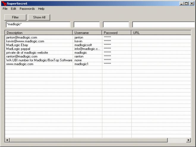 SuperSecret - Password management utility.
